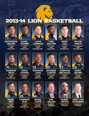 2013 14 A M Commerce Men S Basketball Yearbook By Lion Athletics Issuu