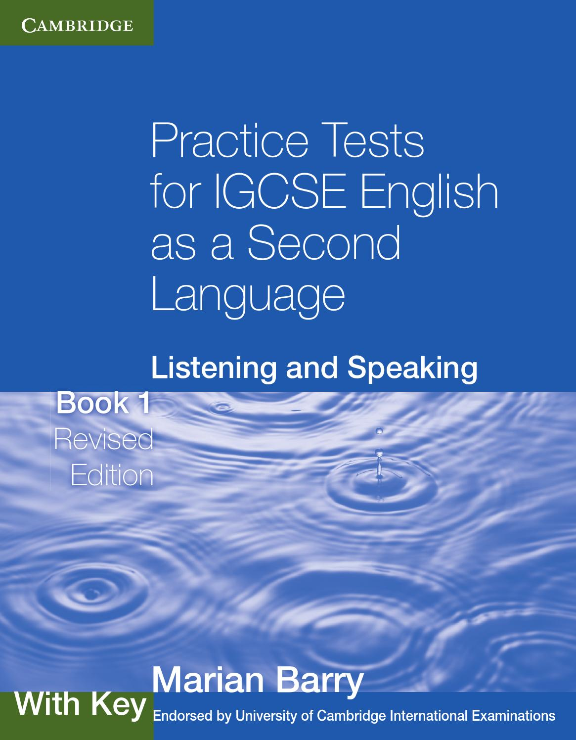 practice tests for igcse english as a second language listening and  practice tests for igcse english as a second language listening and  speaking book  with key by cambridge university press education  issuu