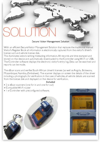 Secure visitor management solution by Drug Detection