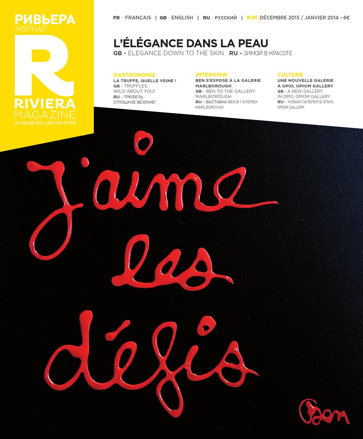 Riviera Magazine n°66 - Décembre 2013 by Riviera Magazine - issuu b6c9f49994e