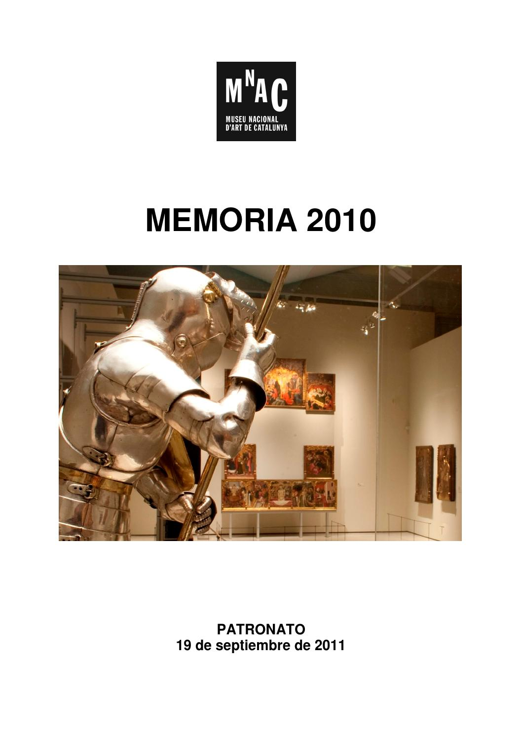 Memoria Museu Nacional 2010 Castellano By Museu Nacional D Art  # Muebles Viuda De Juan Parera