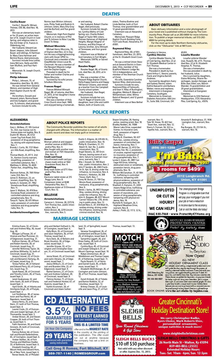 Fort thomas recorder 120513 by Enquirer Media - issuu
