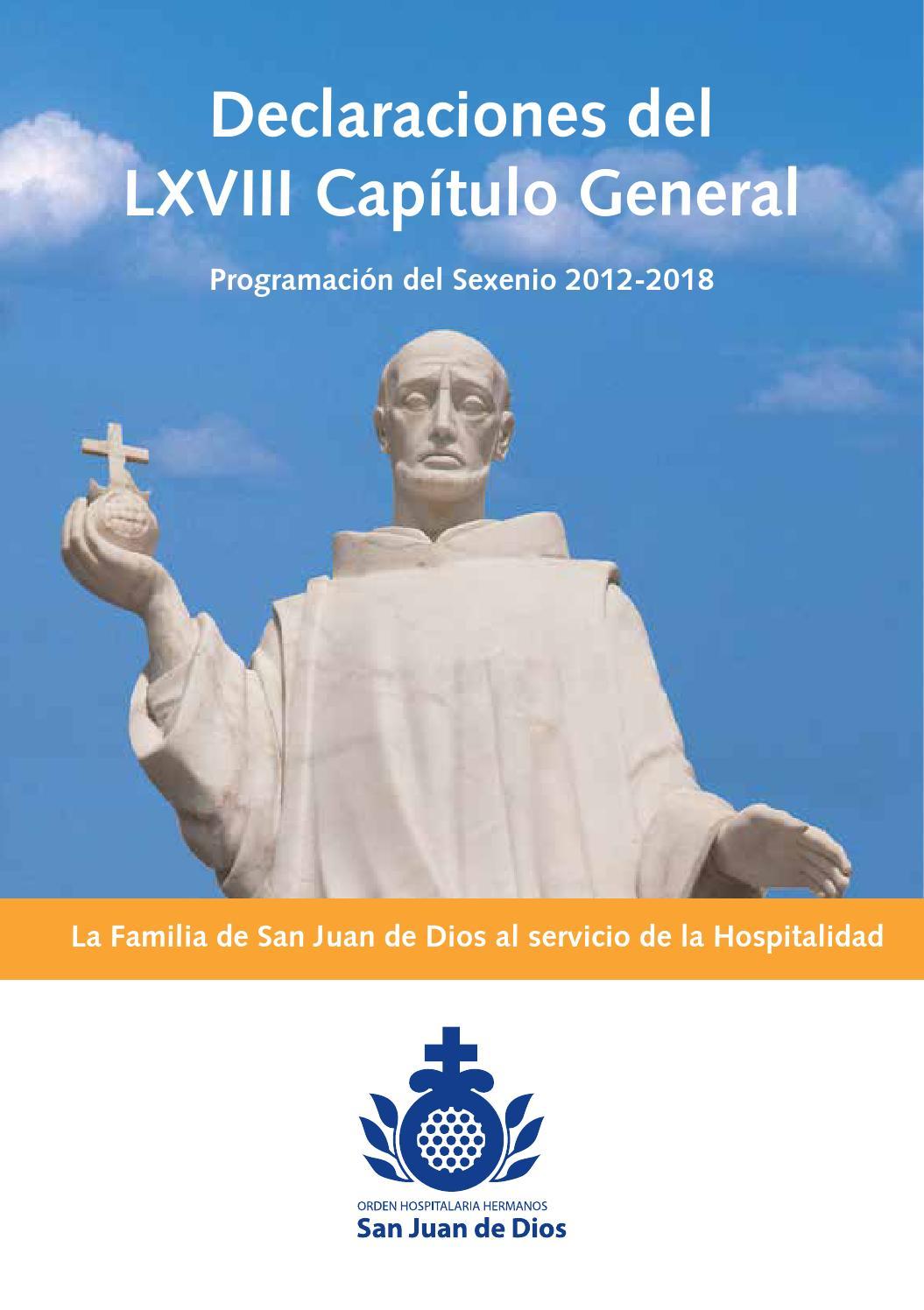 Declaraciones Del Lxviii Capítulo General By Revista Historia Y Vida Hsjd Issuu