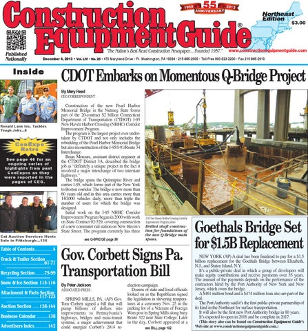 Northeast 25 2013 by Construction Equipment Guide - issuu