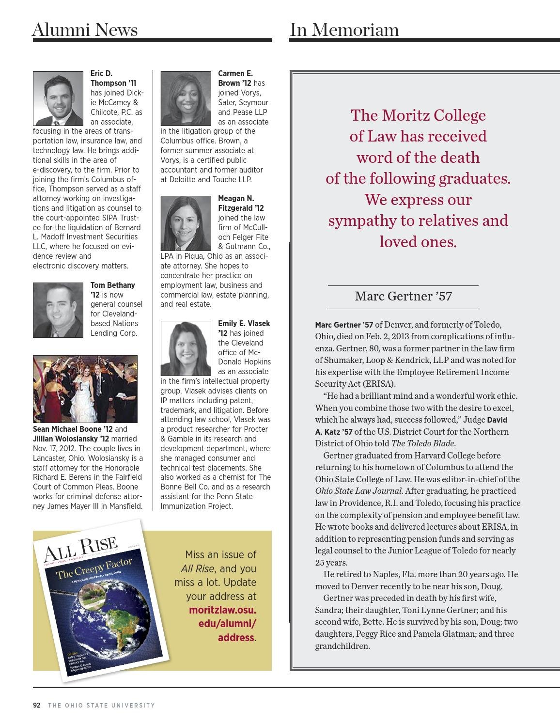 All Rise Summer 2013 By Moritz College Of Law Issuu