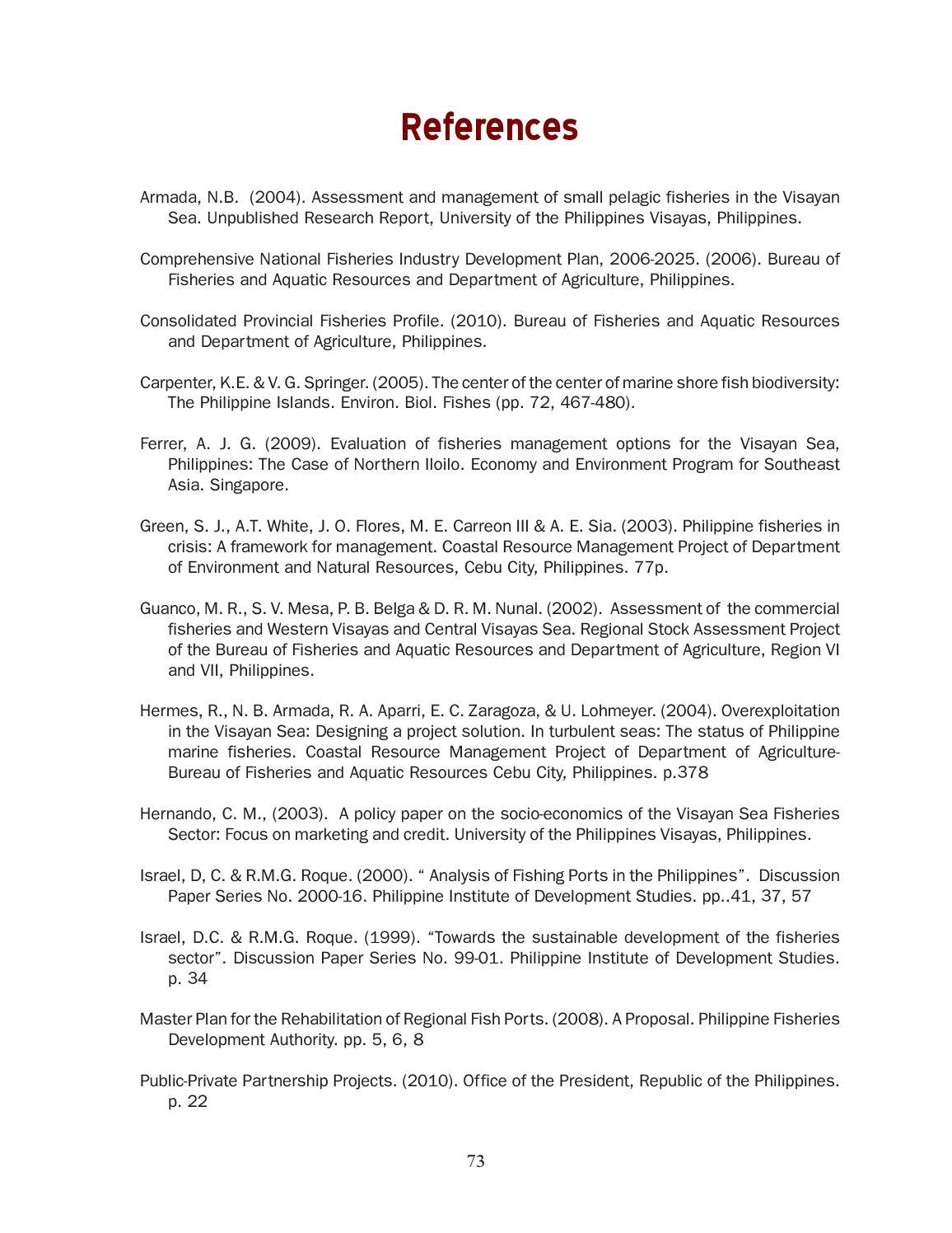 2011 2020 visayas sea area development plan by neda region for Environmental management bureau region 13