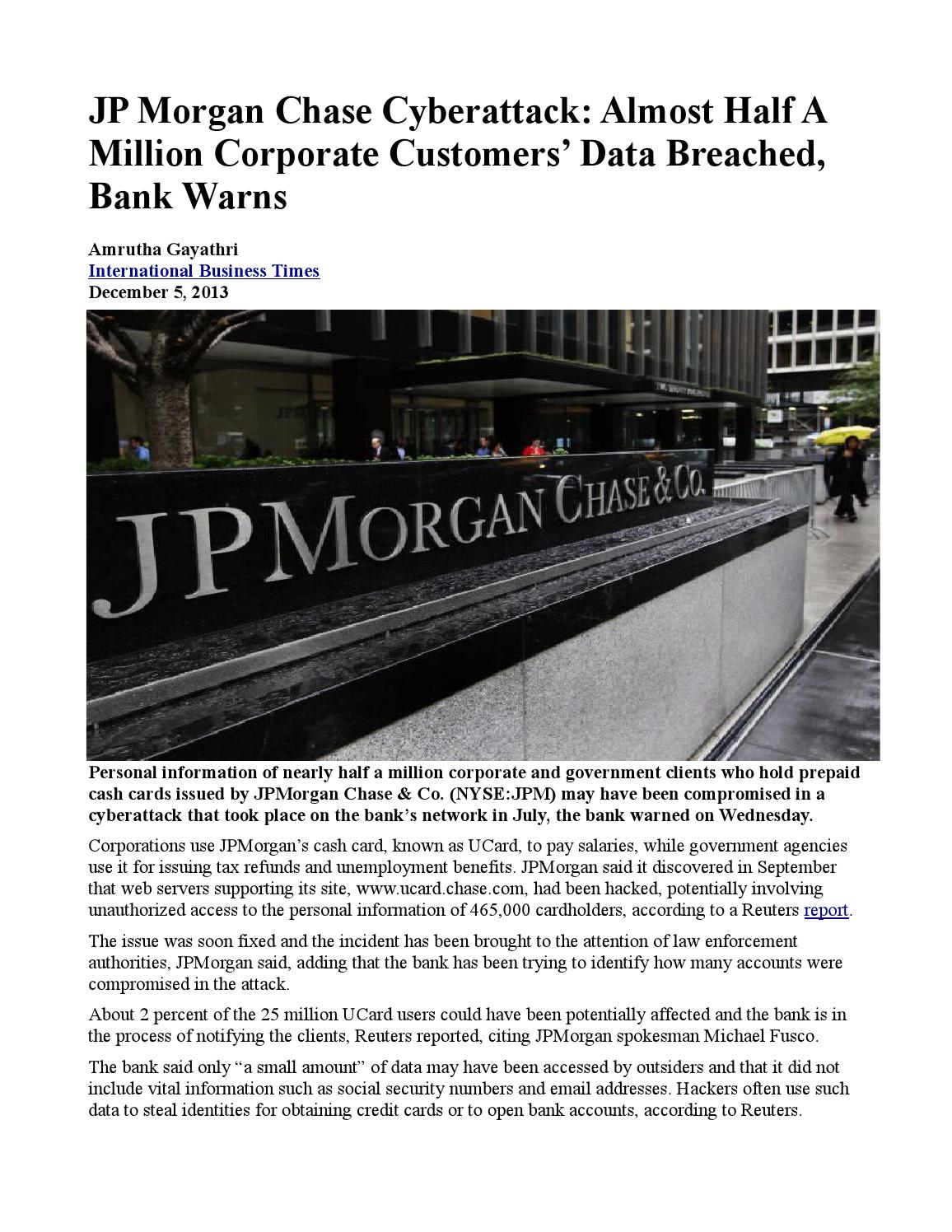 whalen v jp morgan chase essay Ebscohost serves thousands of libraries with premium essays  jp morgan target of civil suit whalen  lawsuit against jpmorgan chase for alleged fraud.