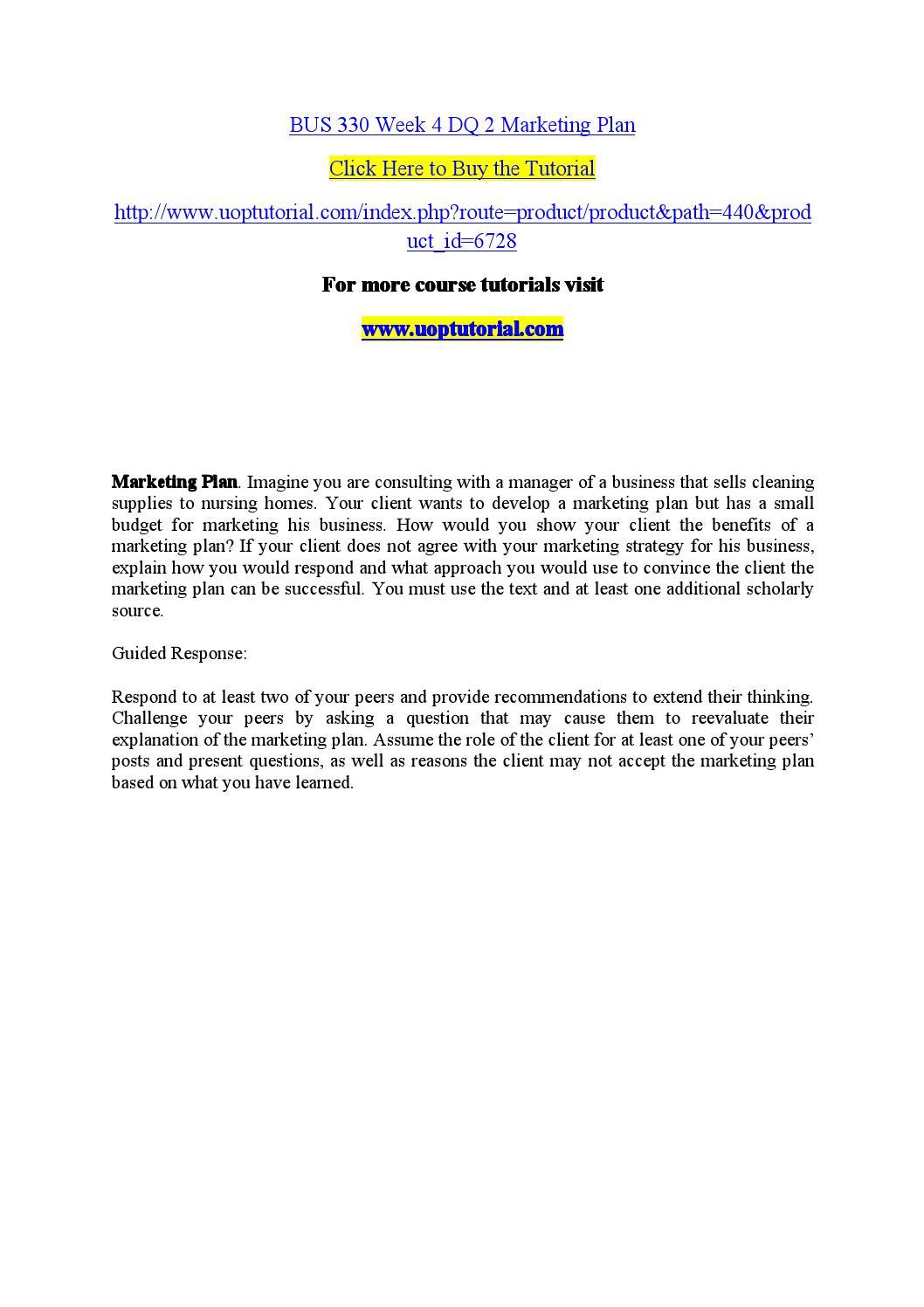 BUS 330 Principles of Marketing: Ashford