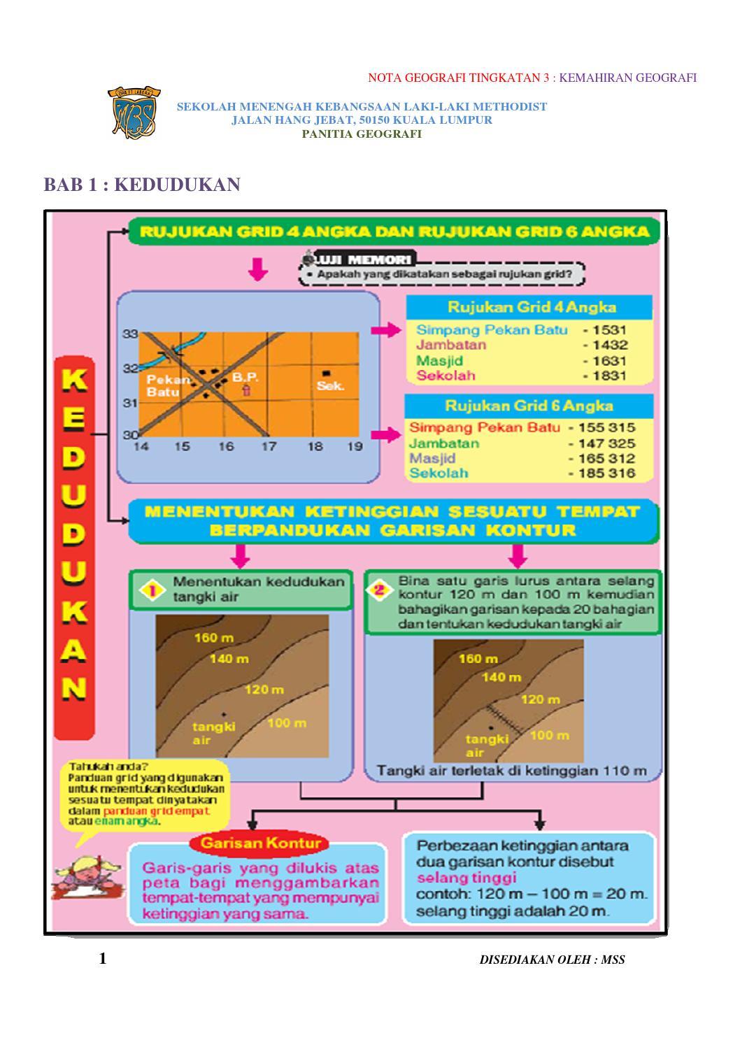 Nota geog ting 3 kemahiran geografi by Buku Geografi - Issuu