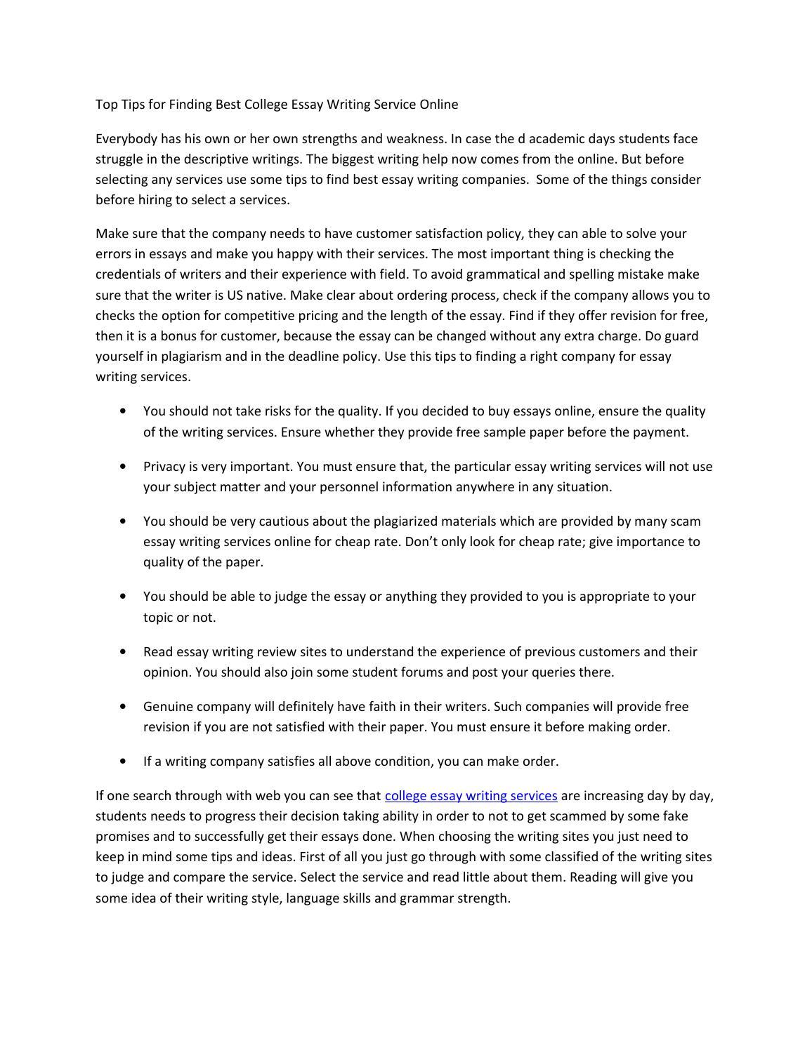 College Essay Help Online Free