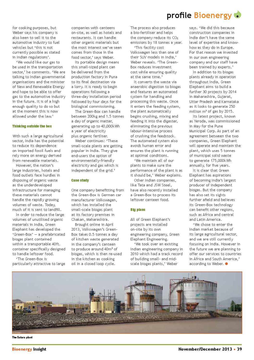 Bioenergy Insight November/December 2013 by Woodcote Media