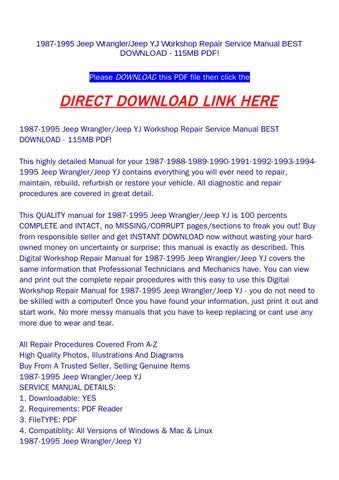 1989 jeep wrangler yj repair manual pdf