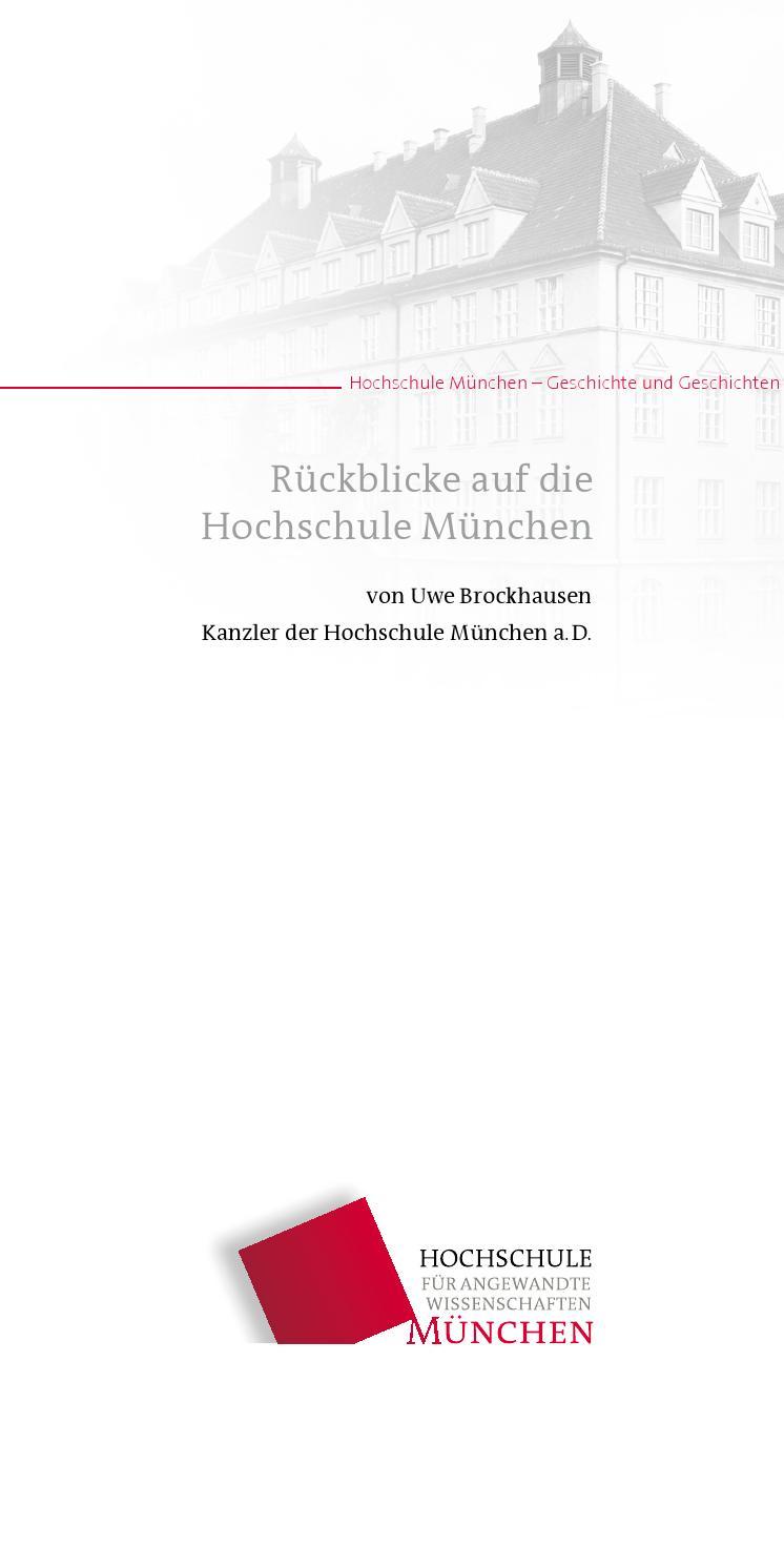 Hochschule München - Geschichte und Geschichten: Rückblicke auf die  Hochschule München by Hochschule München - issuu