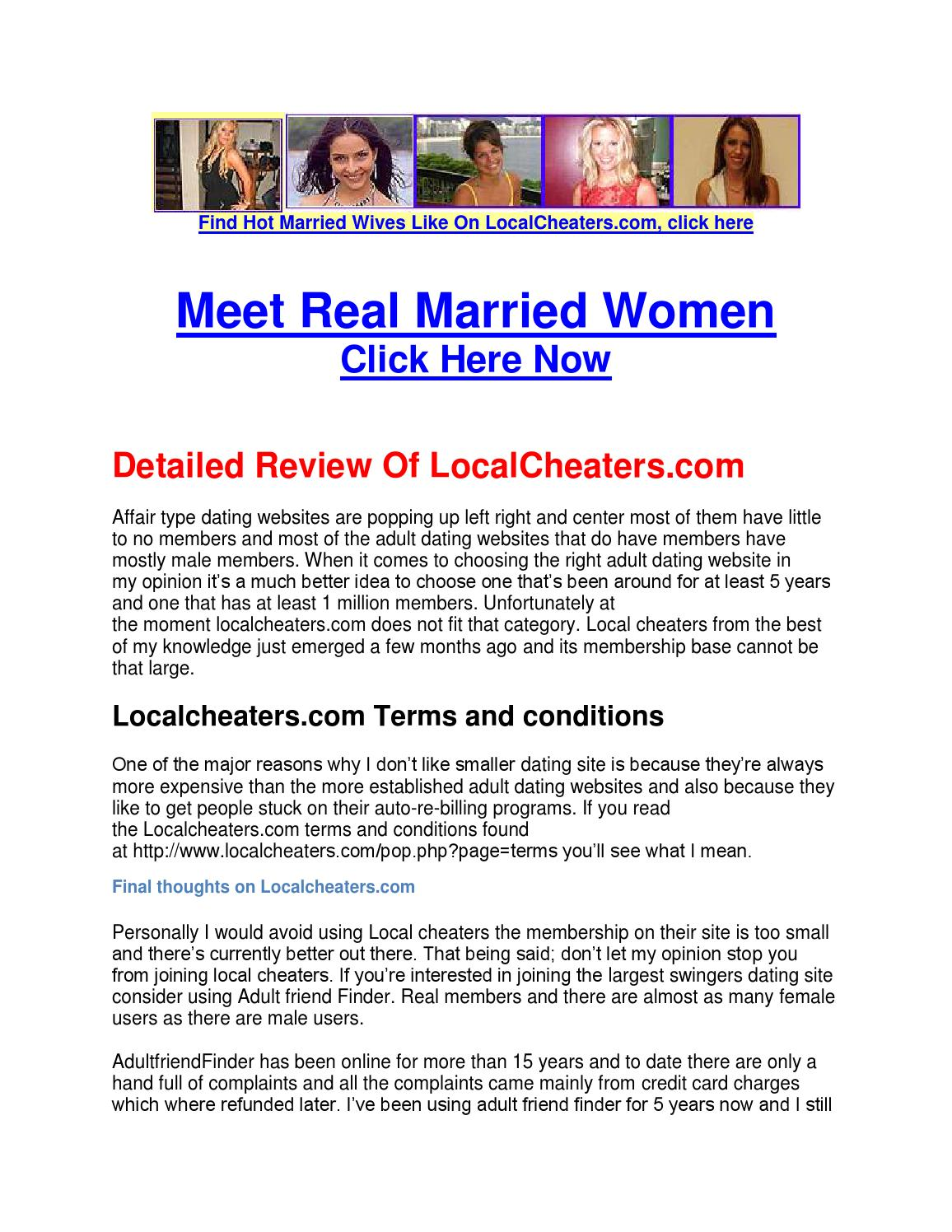 LocalCheaters.com Reviews : Is Local Cheaters A Scam? Watch This Review &  Find Out by LocalCheaters - issuu