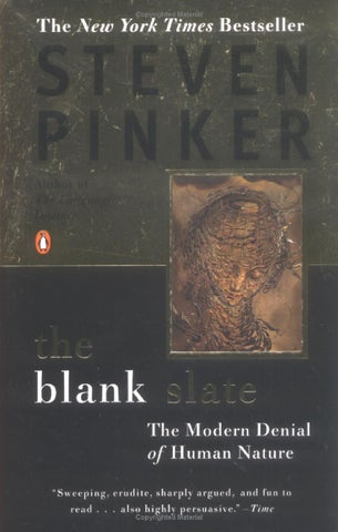 53956f570ac Steven pinker the blank slate by Joey Bravo - issuu