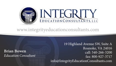 Educational consultant business cards arts arts integrity education consultants business card by darlington smith colourmoves