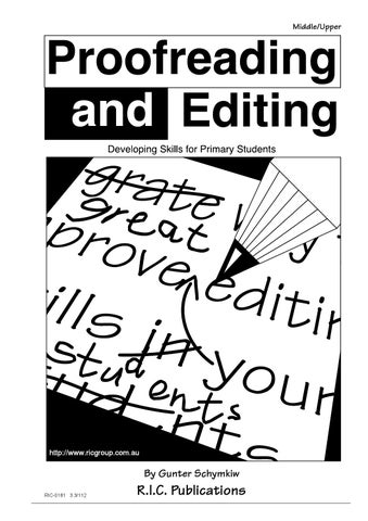 Proofreading and Editing: Ages 9-12 by Teacher Superstore ...