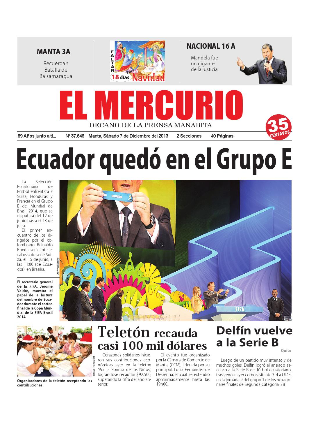 Mercurio sábado 7 de diciembre del 2013 by Diario El mercurio - issuu 147dc16b70d