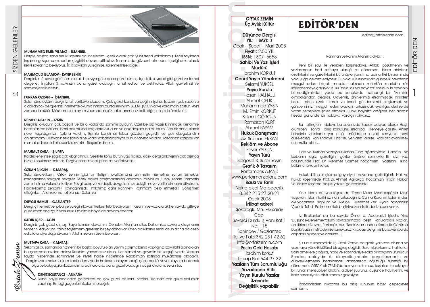 Ortak Zemin Dergisi Sayi 3 By Ahmet Celik Issuu