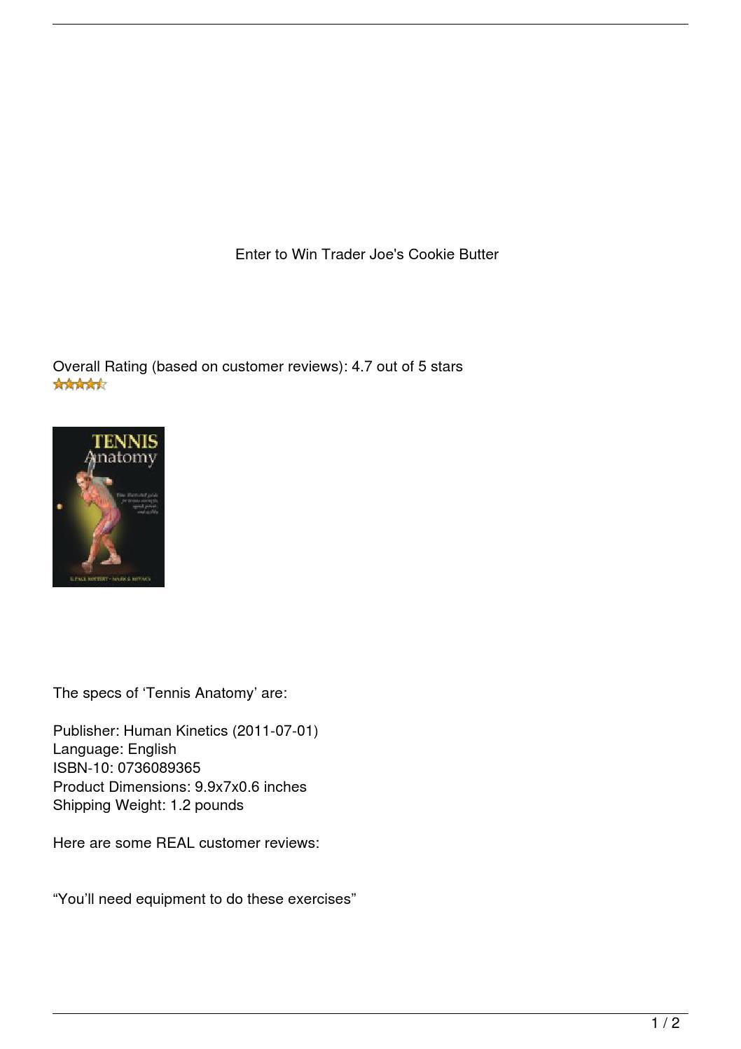 f2585ab7e883b Amazon.com  Customer reviews  Tennis Anatomy