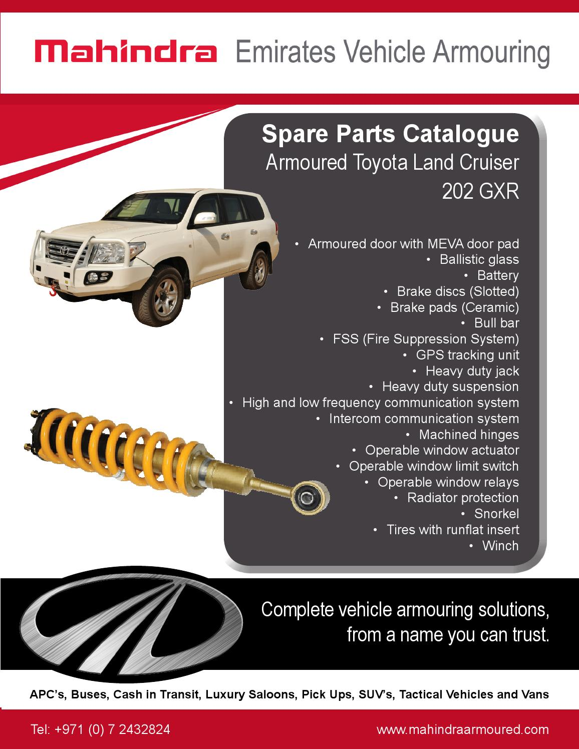 Toyota Land Cruiser 202 GXR spare parts catalogue by MEVA