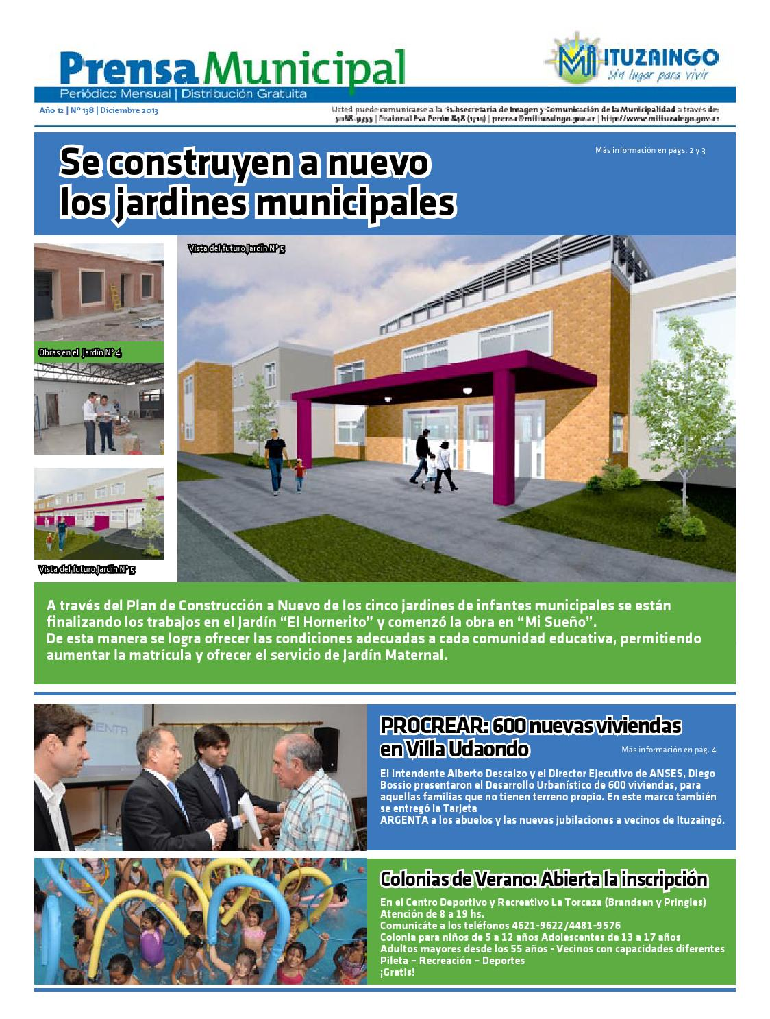 Prensa Municipal De Ituzaing Diciembre 2013 By Subsecretar A De  # Mundo Mueble Jaguel