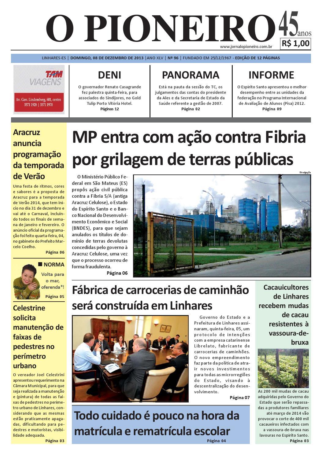 b00c9c68be O PIONEIRO 08 DE DEZEMBRO DE 2013 by Jornal O PIONEIRO - issuu