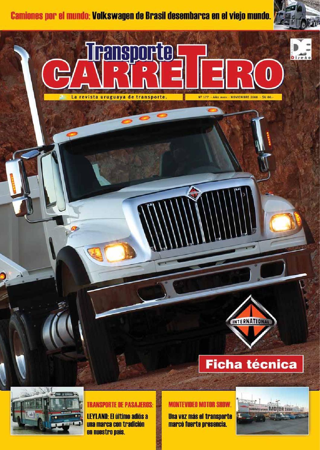 Transporte Carretero Nº 177 - noviembre 2008 by Diseño Producciones ...