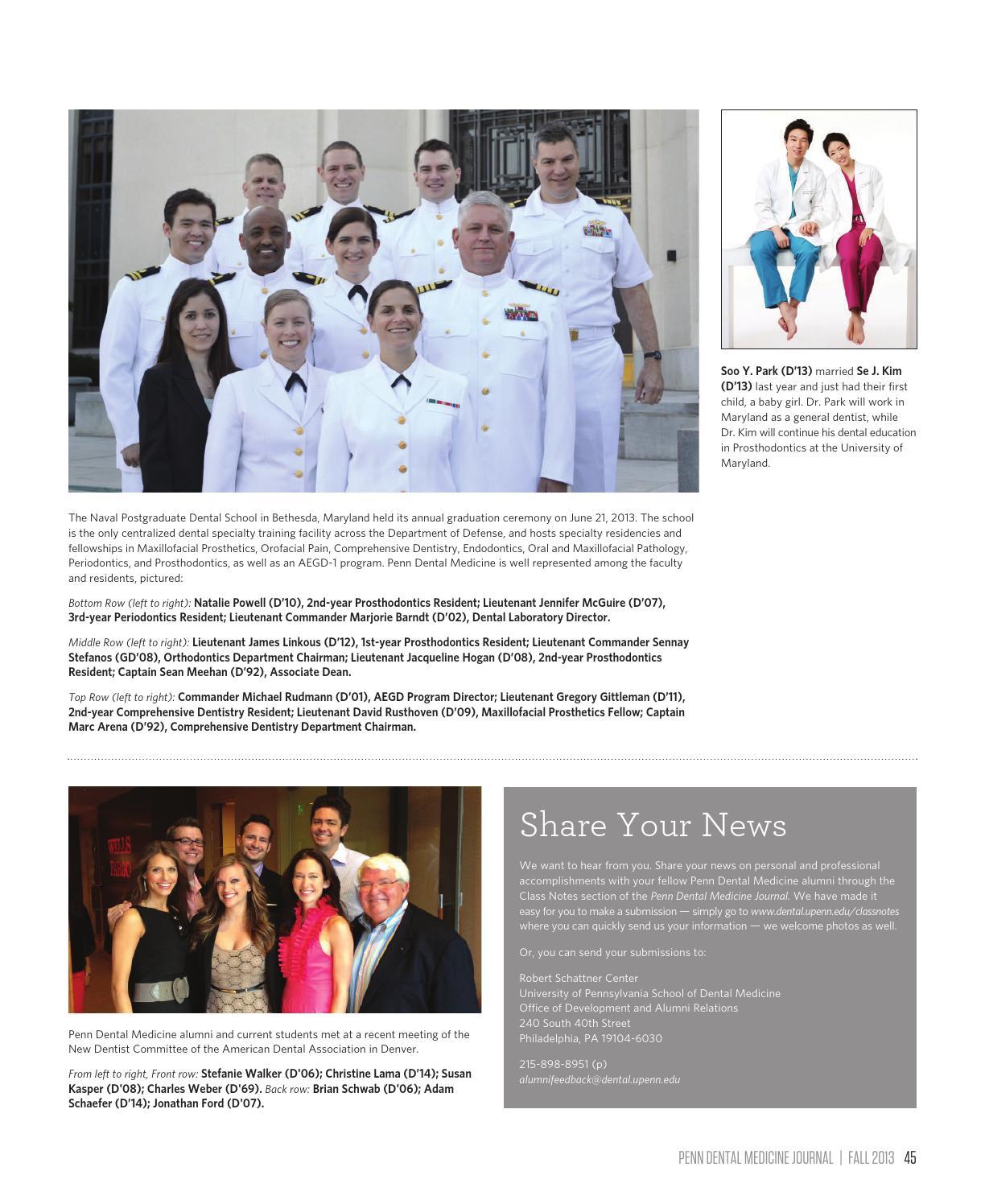 Penn Dental Medicine Journal, Fall 2013 by Penn Dental