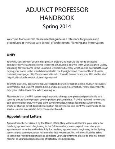 2014 HP Adjunct Handbook