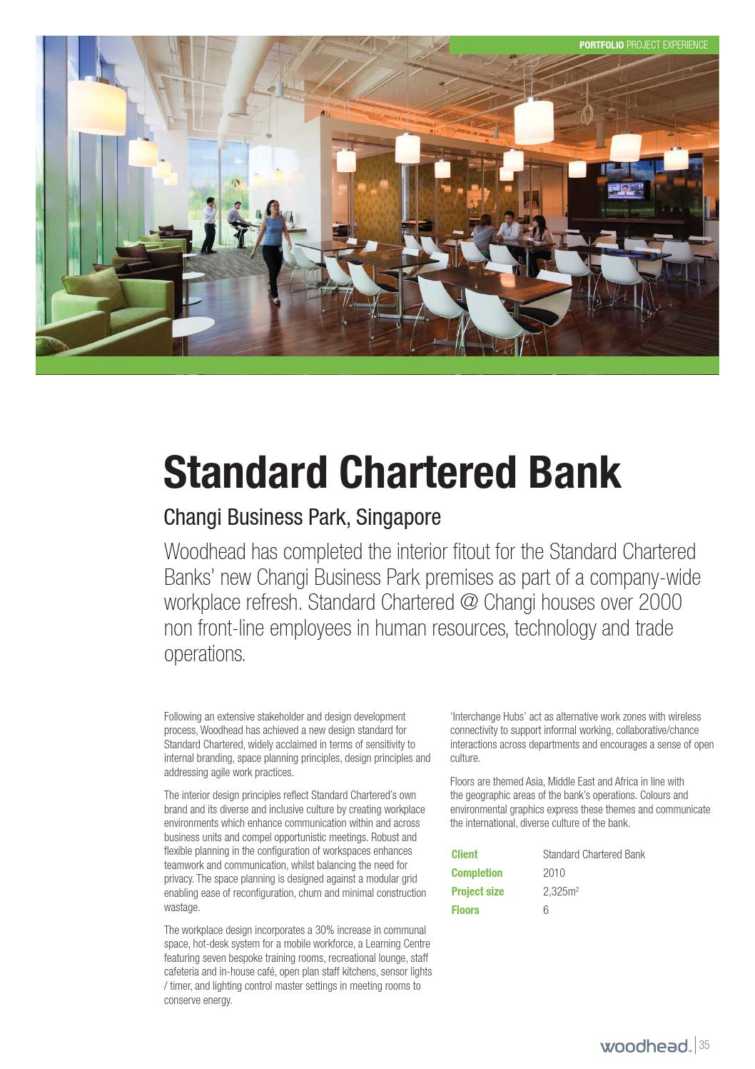 Design Bank Standard Chartered Bank By Woodhead