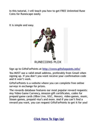 How to get FREE Unlimited Rune Coins for Runescape easily by