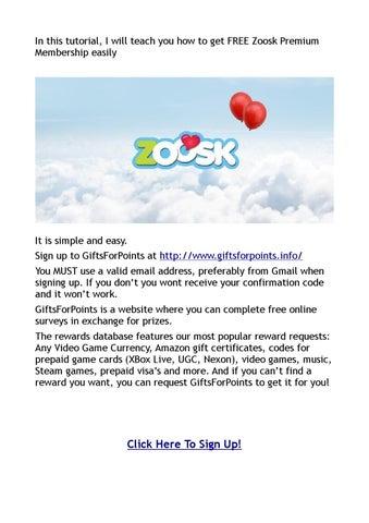 get free zoosk membership