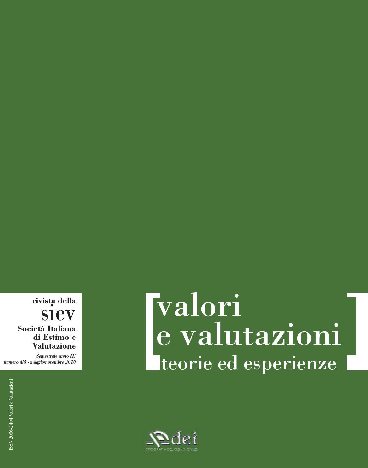 Rivista siev n 4 5 2010 by dei tipografia del genio civile for Mega planimetrie delle dimore