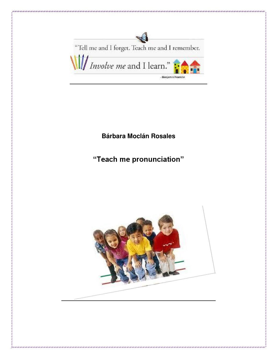 Teach Me Pronunciation By Barbara Moclan Issuu