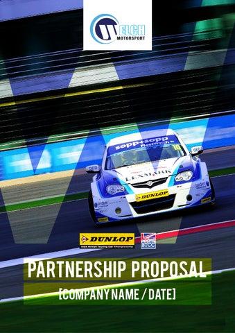 racing sponsorship proposal