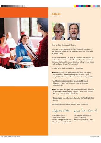 Daf Katalog Klett Langenscheidt 2014 By Centro Cultural