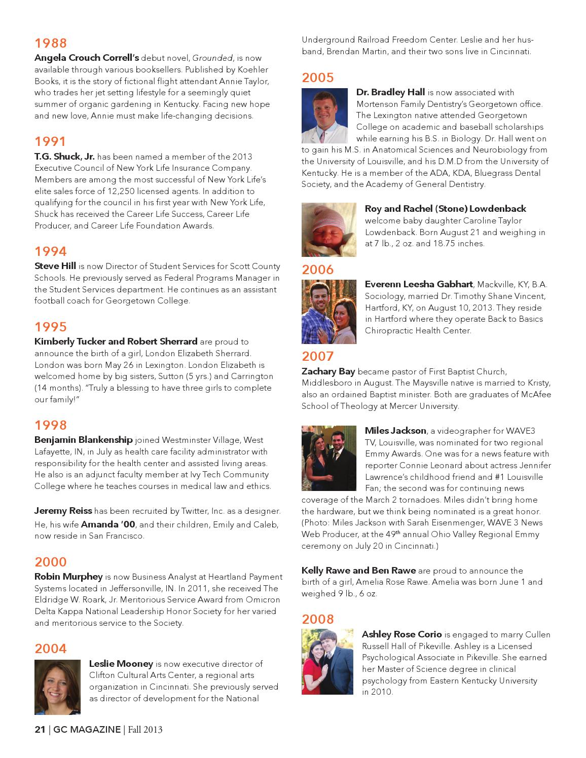 GC Magazine, Fall 2013 by Georgetown College - issuu