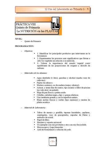 022 práctica 08 5º nutrición plantas by Educa Conciencia - issuu