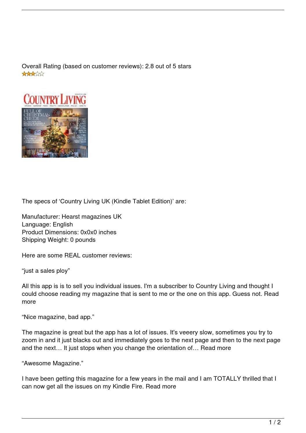 Country Living UK (Kindle Tablet Edition) Review By A1magazines   Issuu
