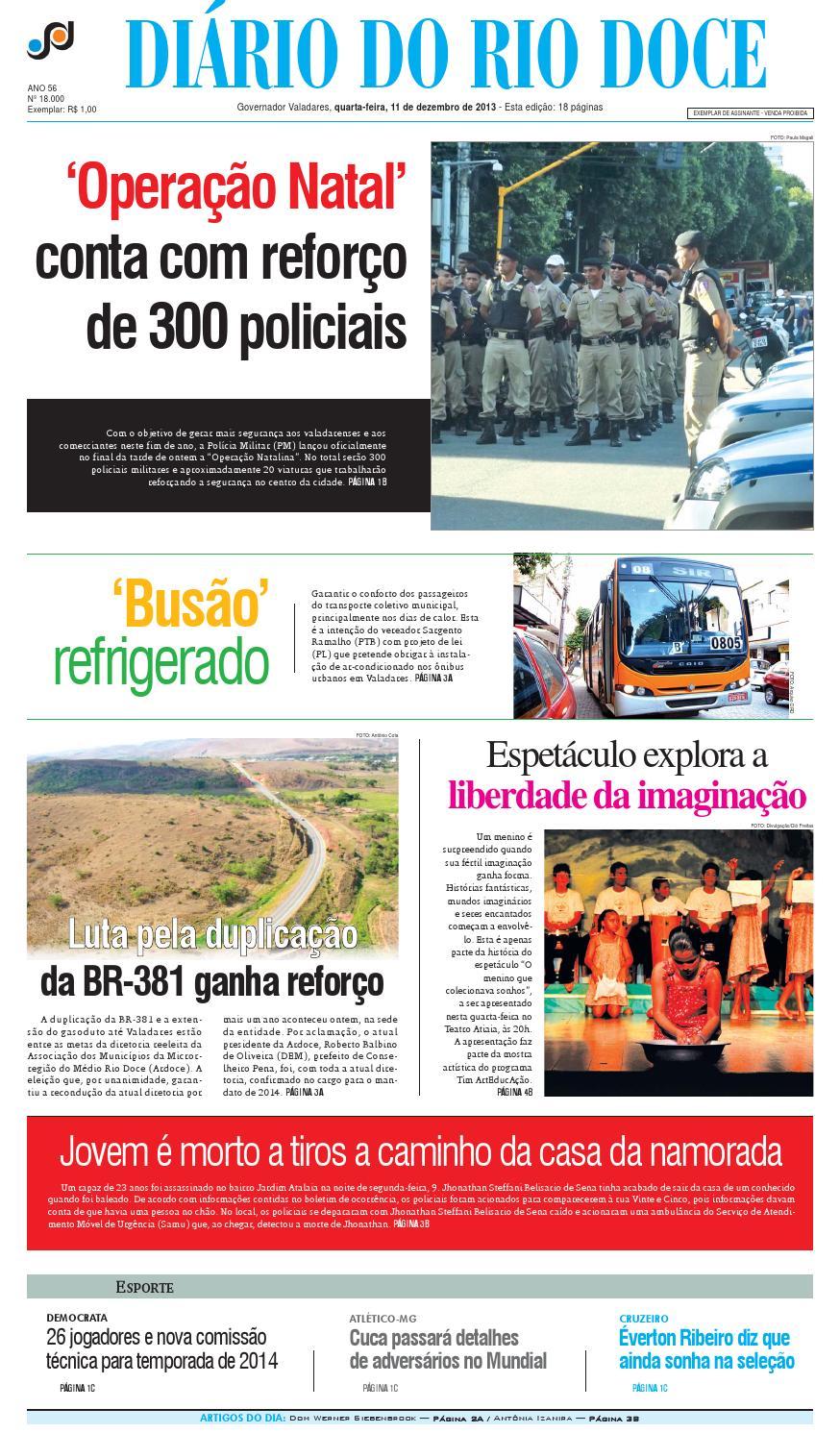 4e64f03f5 Diário do Rio Doce - Edição 11/12/2013 by Diário do Rio Doce - issuu