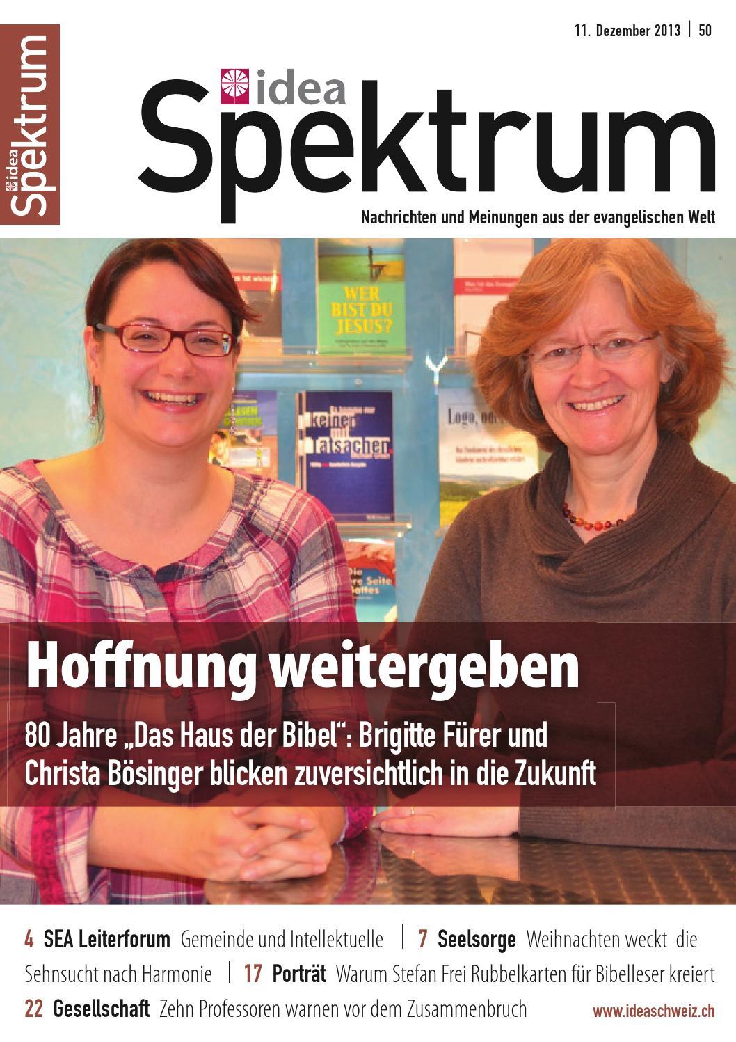 Idea Spektrum Schweiz 50/2013 by Jordi AG – das Medienhaus - issuu