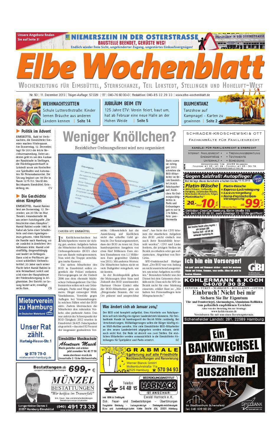 Eimsbüttel KW50 2013 by Elbe Wochenblatt Verlagsgesellschaft