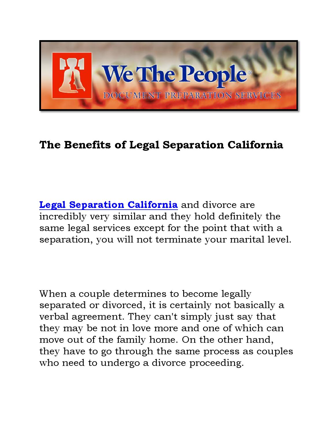 California legally separated dating