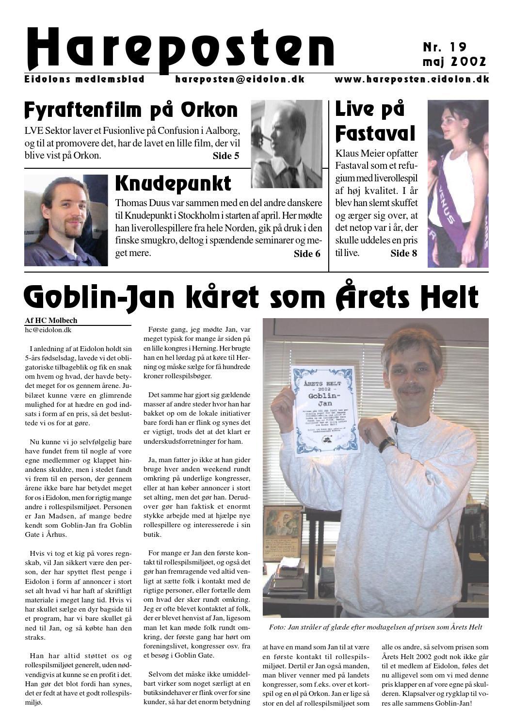 Hareposten19 by Foreningen Eidolon - issuu a1e963456974a