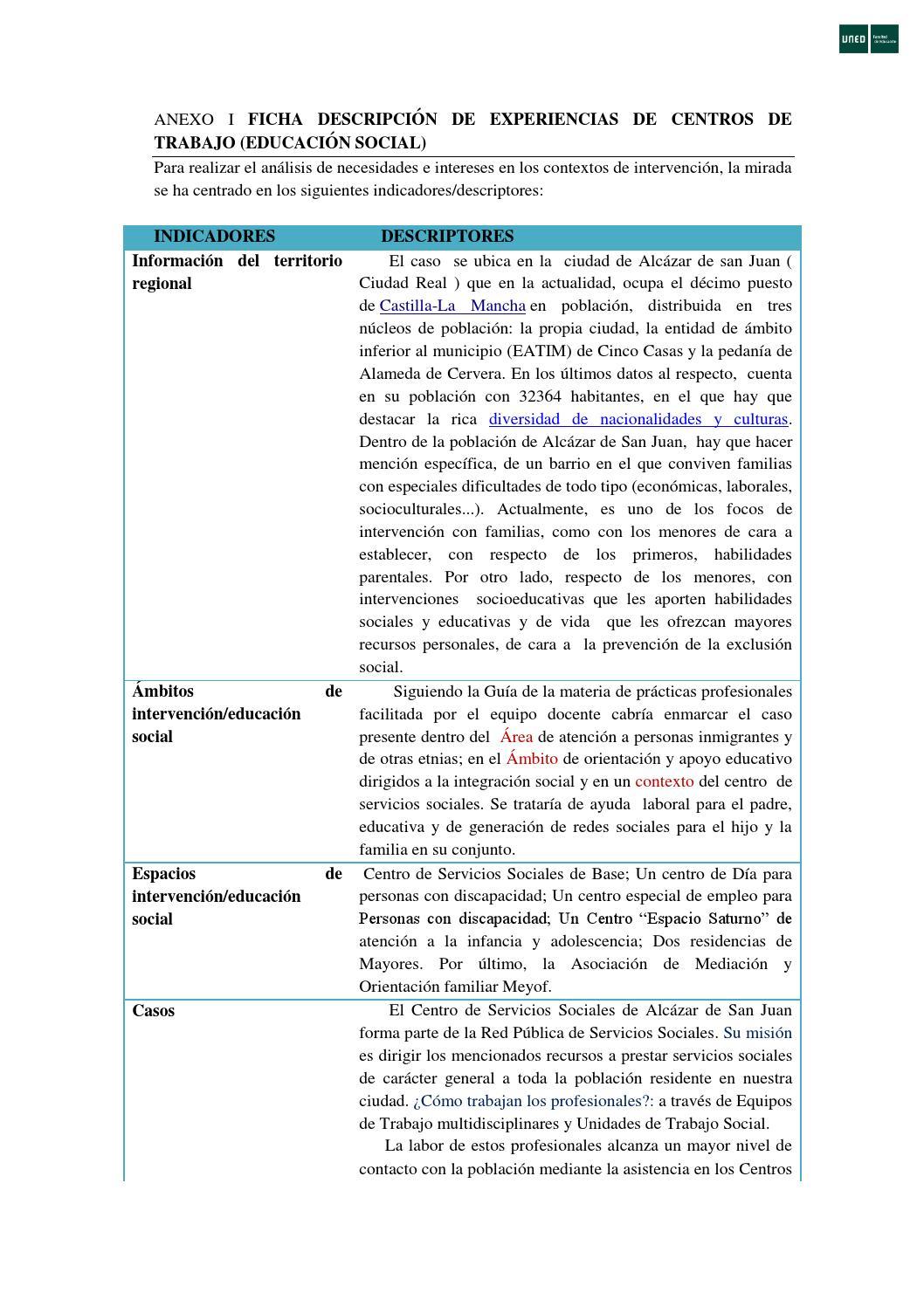 Anexo i ficha descripción experiencias (caso 1) by Miguel Ángel - issuu
