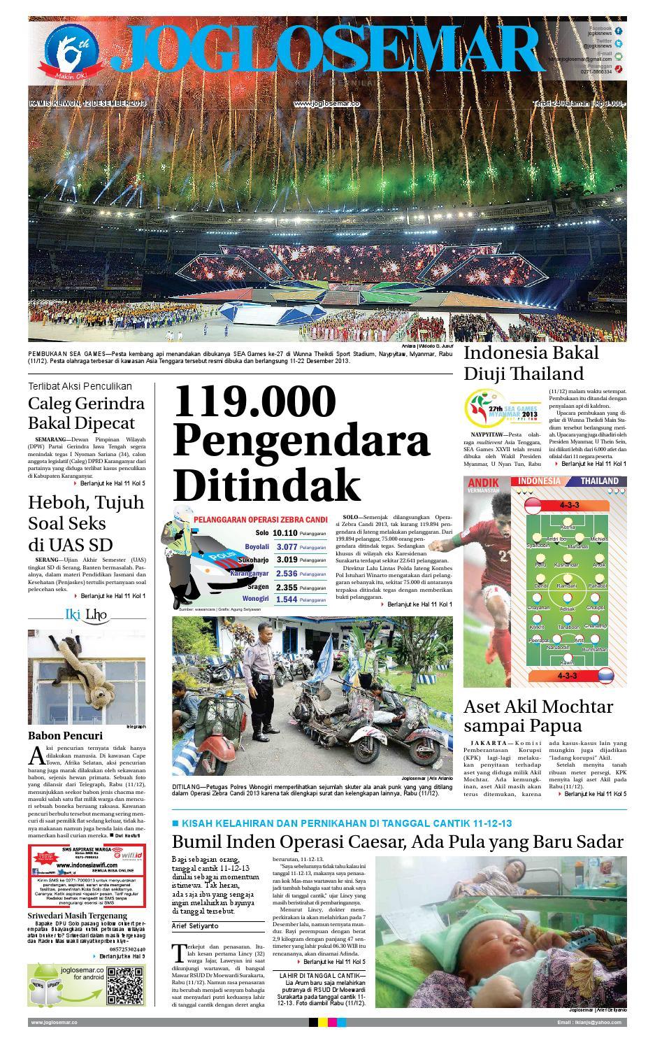Epaper Edisi 28 Nopember 2013 By Pt Joglosemar Prima Media Issuu Rejeki Anak Soleh 3 Agip 4t Super 1l 12 Desember