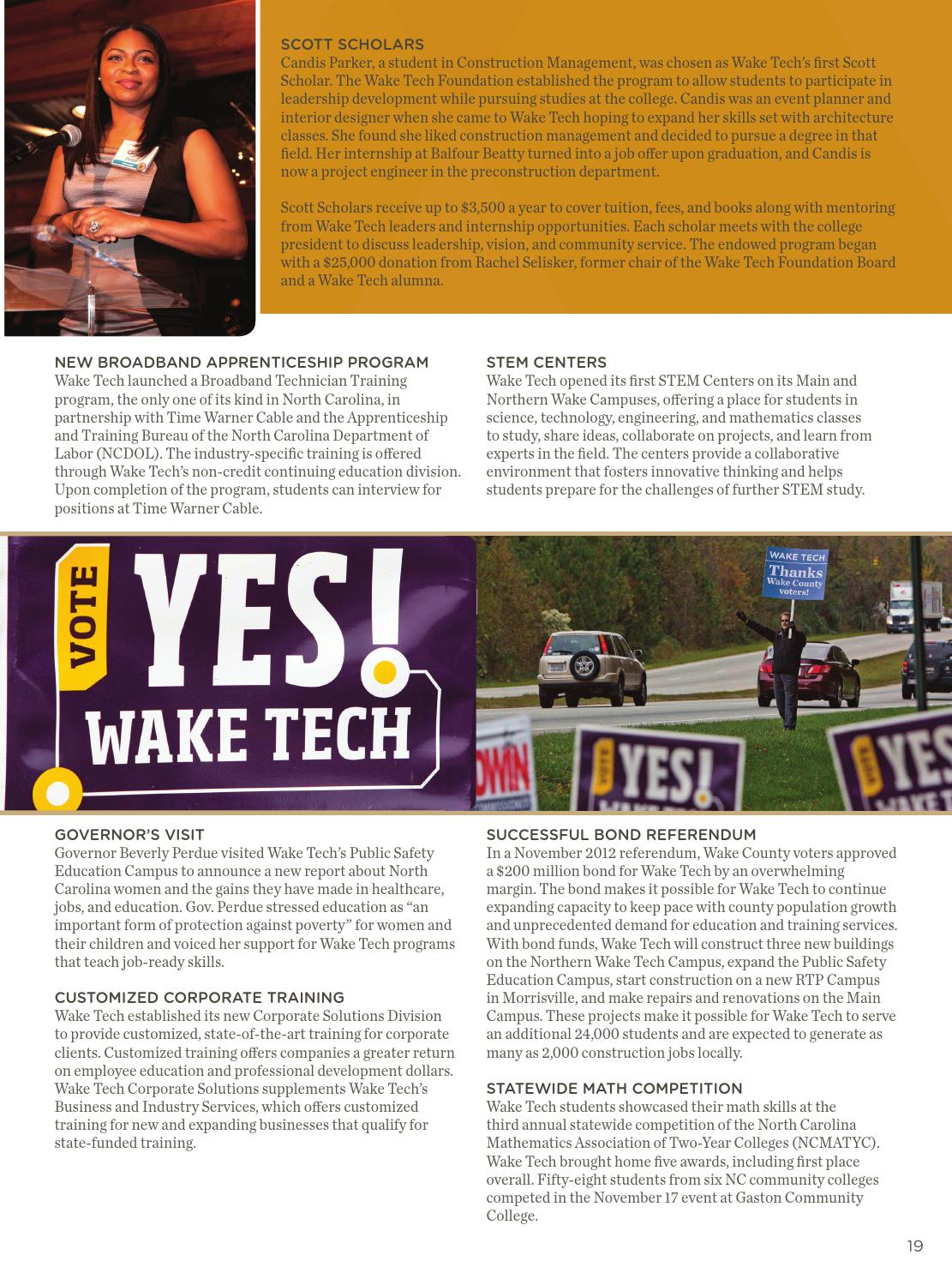 Wake Tech Annual Report Issuu Edition By Wake Tech Community College Issuu
