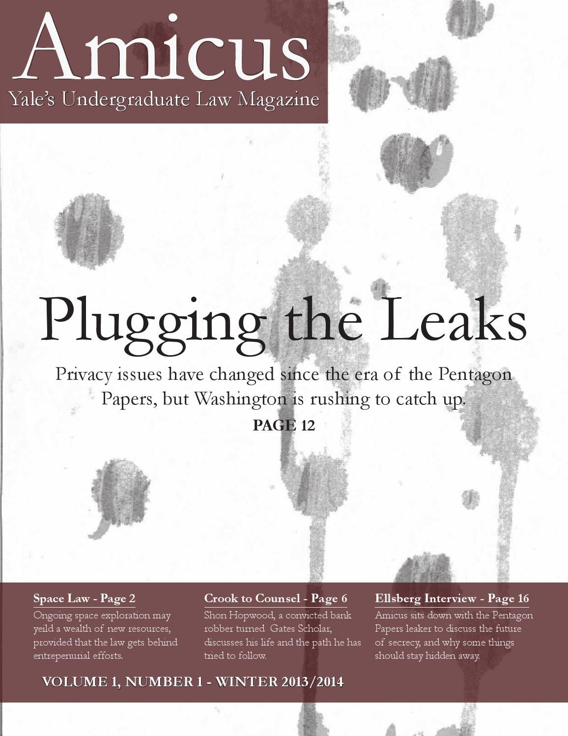 Amicus: Yale's Undergraduate Law Magazine by Yale Amicus - issuu