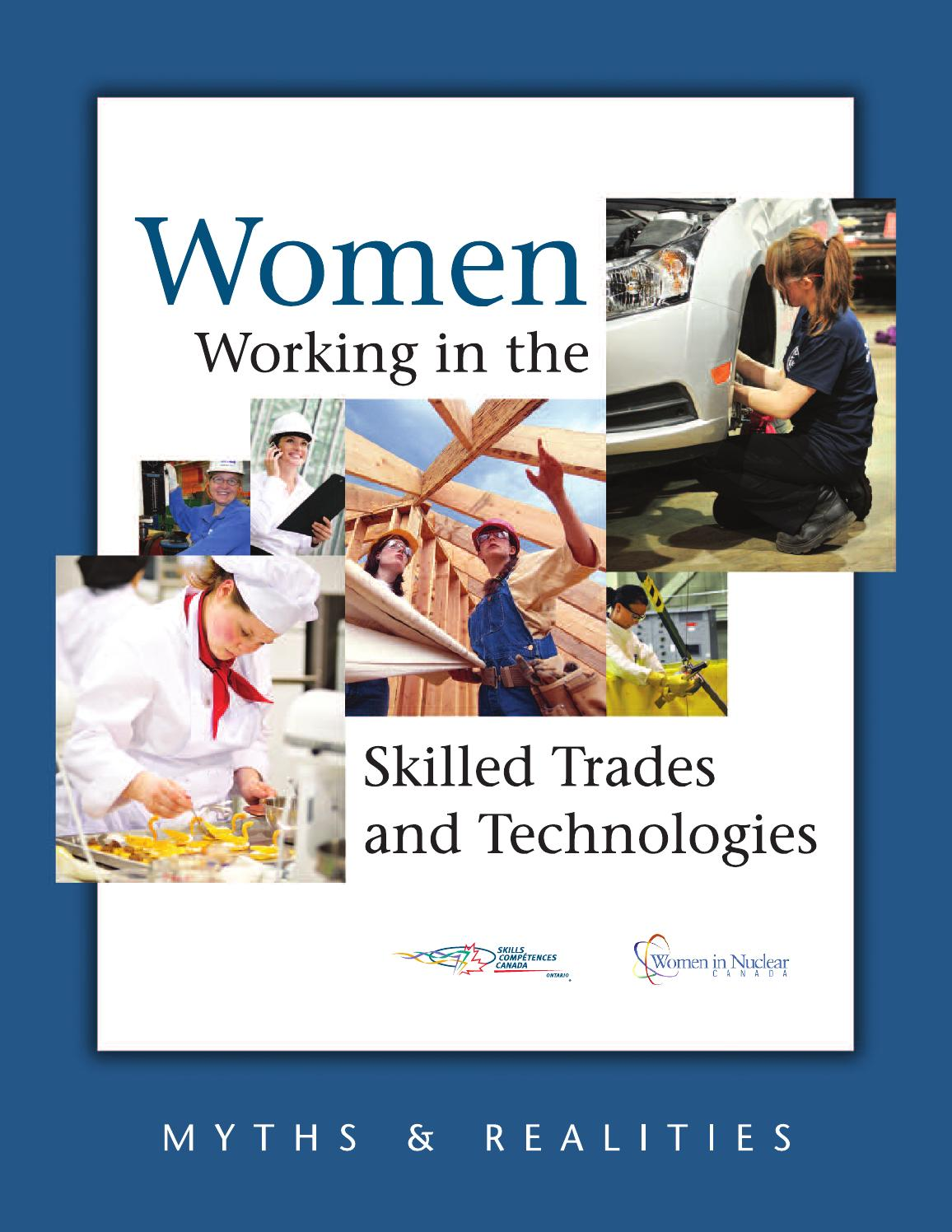 Women Working In The Skilled Trades And Technologies By